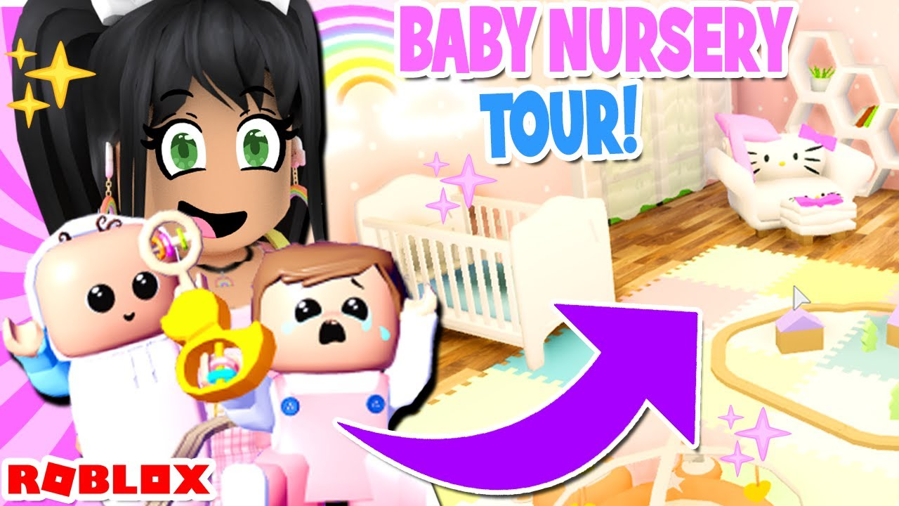 My NEW *BABY NURSERY TOUR* 👶 Club Roblox Roleplay Update - YouTube