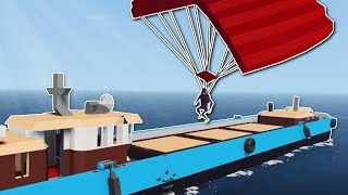 SECRET PARACHUTE MISSION! - Stormworks Multiplayer Gameplay - Sinking Ship Survival
