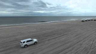 Long Island Beach Driving Drone Footage
