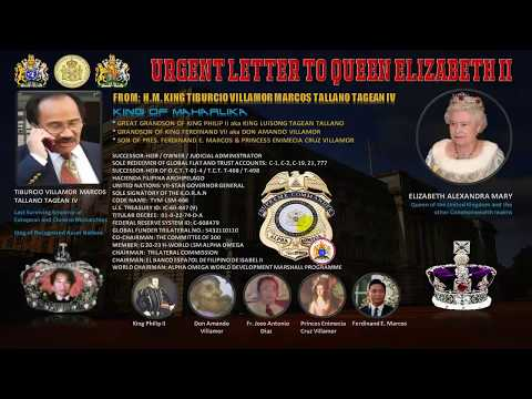 URGENT LETTER TO QUEEN ELIZABETH II from HM. KING TVM-LSM-666 !!!