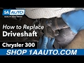 How to Remove Reinstall Driveshaft 2006 Chrysler 300