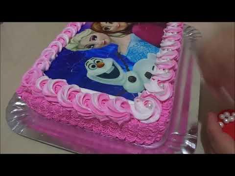 Decoracao Bolo Frozen Rosa Youtube