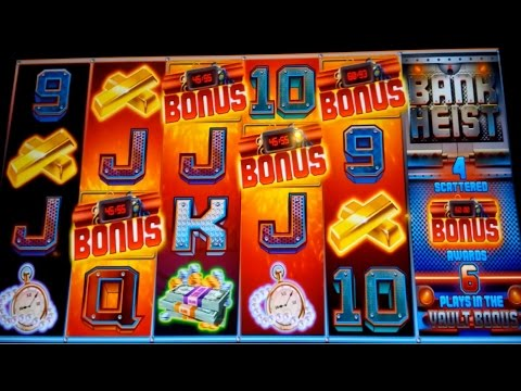 Bank Heist Slot Machine $8 Max Bet *LIVE PLAY* Bonus and 100X Big Win Bonus! (2 videos) - 동영상