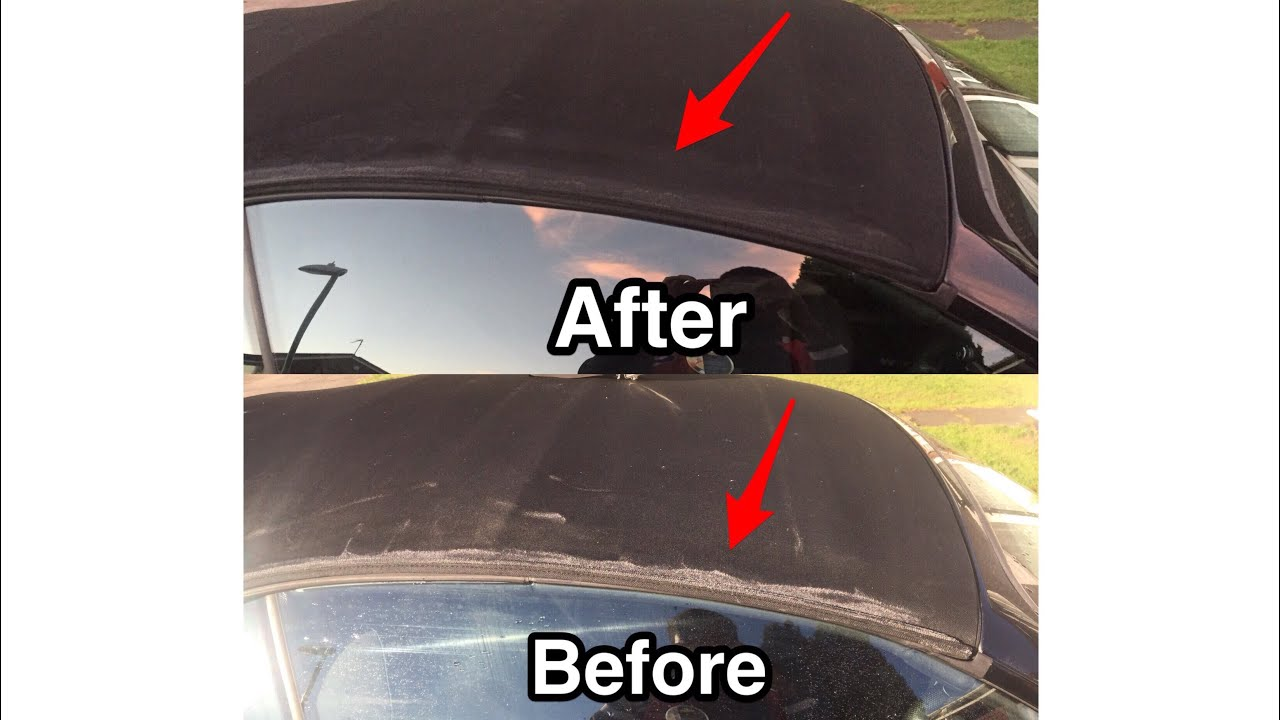 Restoring Black Softop Convertible Roof Colour Youtube