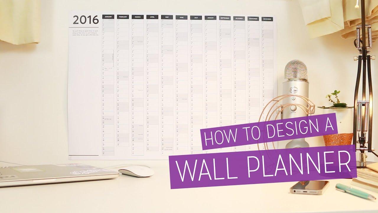 Diy 2016 Wall Planner Design Tutorial Charlimarietv