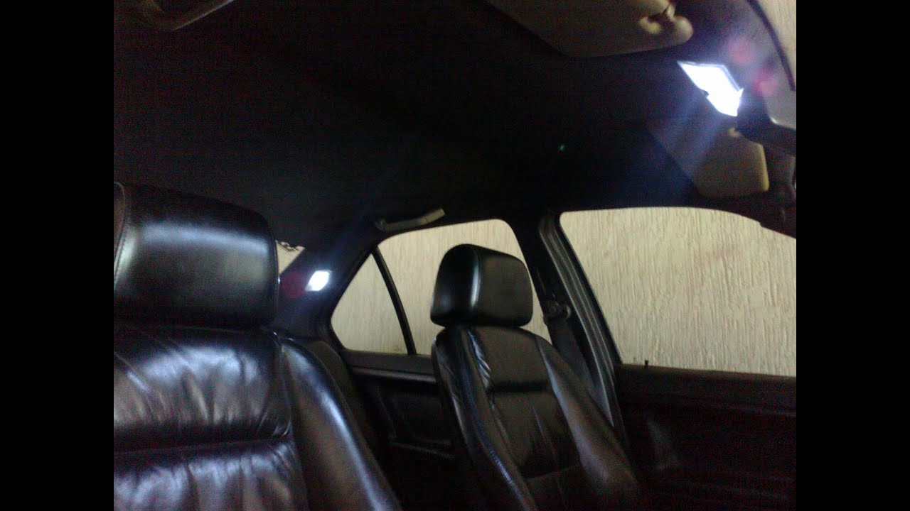 Bmw E36 Led Interior Lights Before And After Youtube