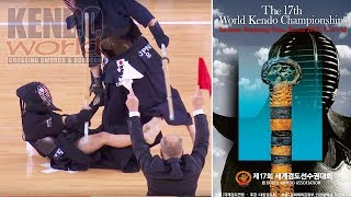 Men's Team Semifinal: Chinese Taipei vs. Japan - 17th World Kendo Championships (2018)