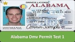 Alabama DMV Permit Test 1