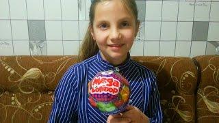 Chupa chups Mega Lollipop Открываем большой чупа чупс
