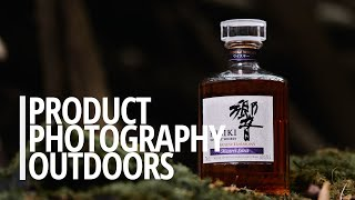 Product photography outdoors with a single light