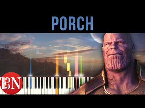 Avengers: Infinity War - Porch | Strings Tutorial / Sheet Music / MIDI thumbnail