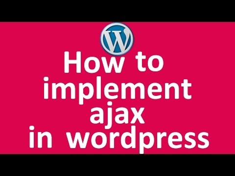 How to implement jquery ajax in wordpress
