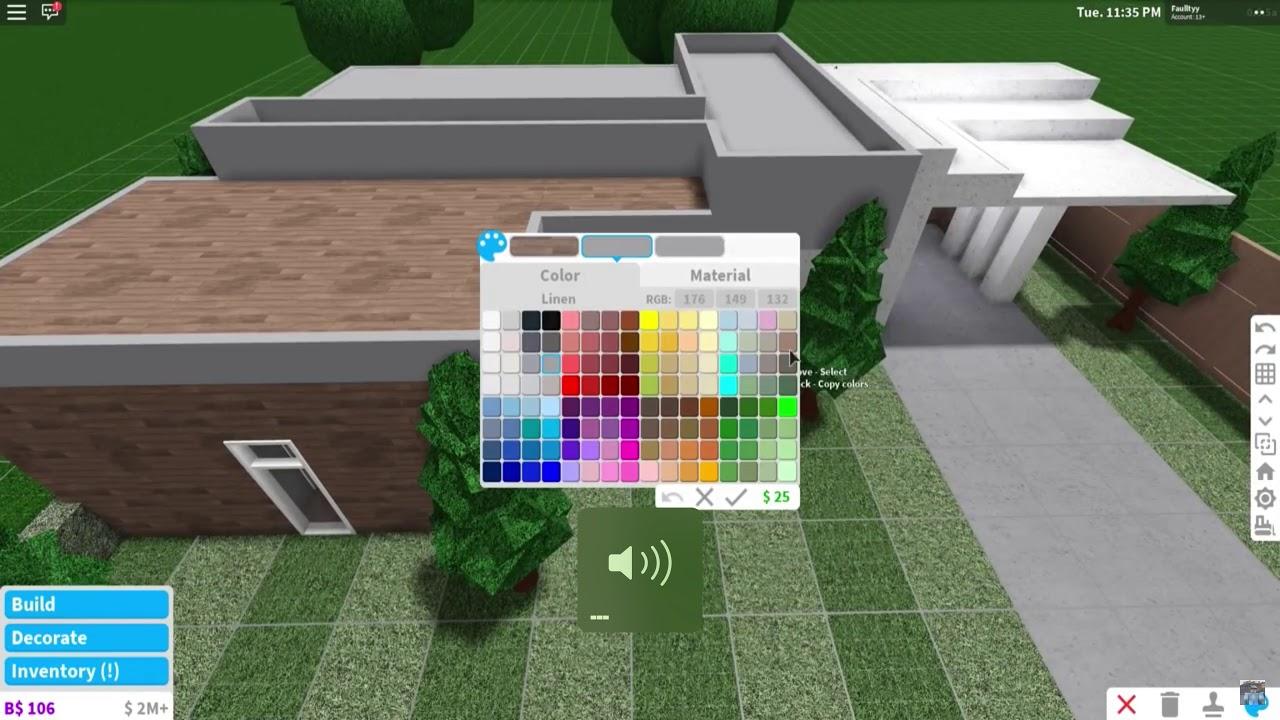 $20 000 Modern House Build Roblox Bloxburg Mansions Iimadisparkles Roblox Bloxburg 20k Modern Home House Build Youtube