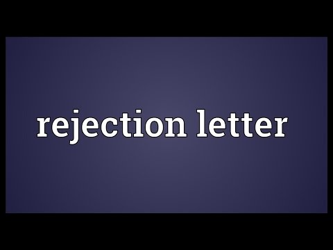 Rejection letter Meaning