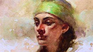 Watercolor portrait painting demo, by Zimou Tan