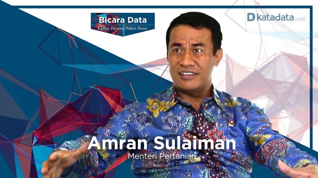 Bicara Data Bersama Menteri Pertanian Amran Sulaiman Youtube