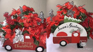Christmas 2019 DIY Red Truck\ Camper Christmas Centerpiece