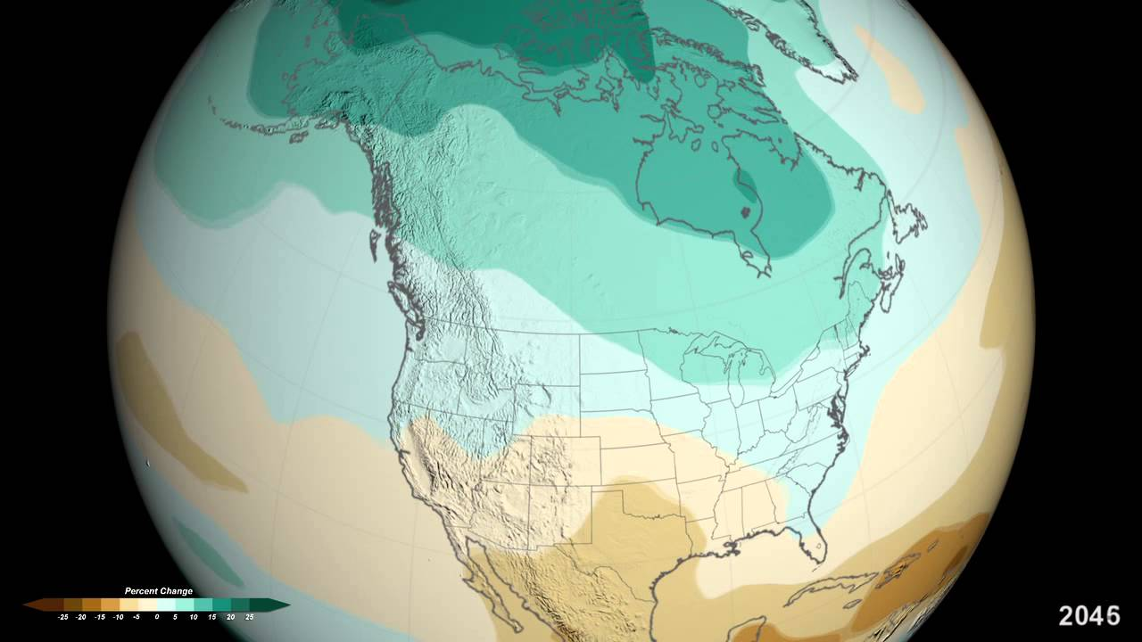 Nasa Projected U S Precipitation Changes By 2100
