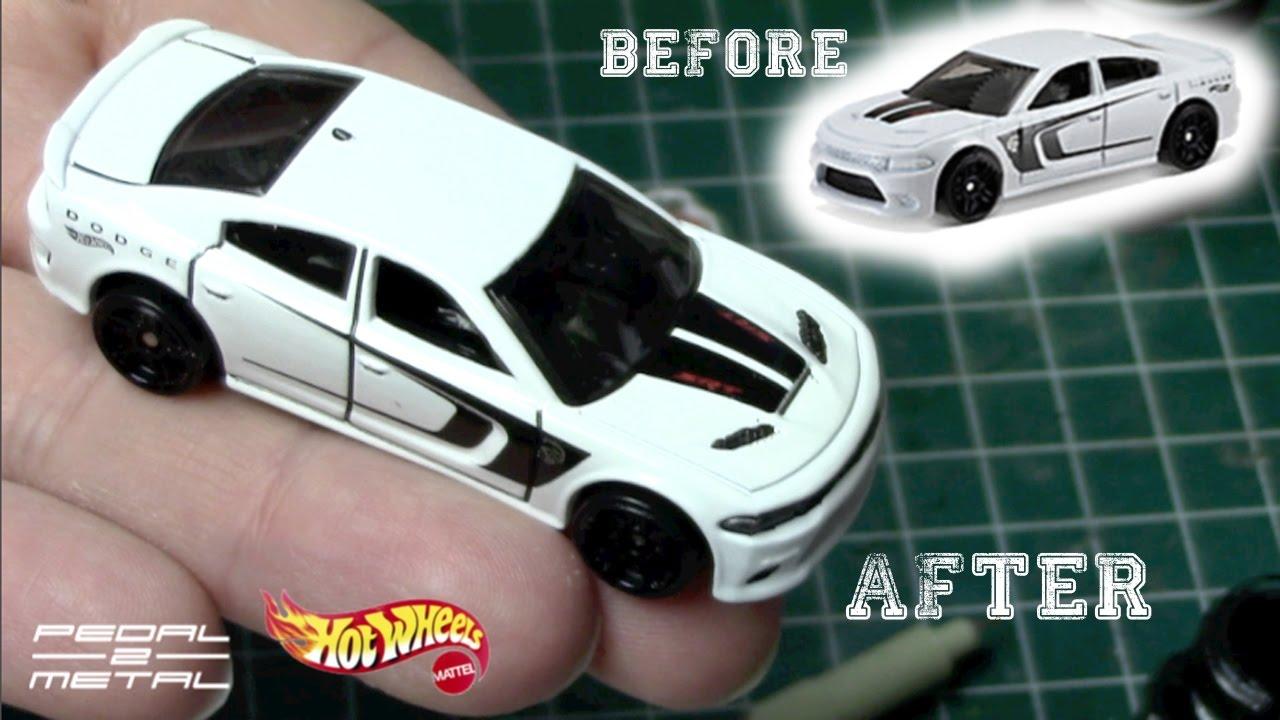 detailing hot wheels dodge charger srt hellcat fun diy youtube