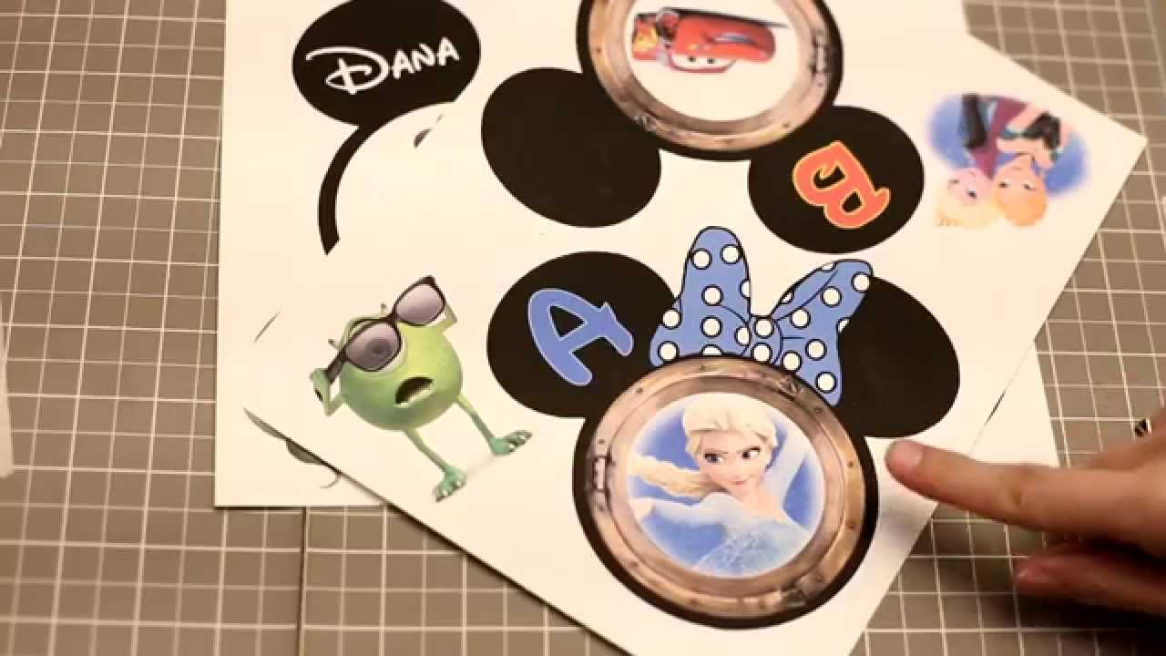 & How to Make Disney Cruise Magnets: Magnet Paper vs. Lamination - YouTube
