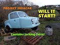 Project Invacar Part 3: Will it start? Hasn't run for 14 years!