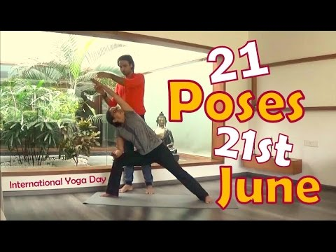 21 basic poses 21st june international yoga day  yoga