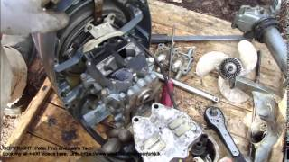 How to disassemble totally OMC Evinrude 4 HP outboard motor