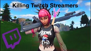 Killing Twitch Streamers - Fortnite Battle Royale (With Reactions)