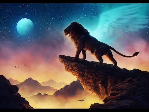 Free Like a Bird (Original Song) - Lion Landscape Fantasy Speedpainting - Digital Art by JoJoesArt