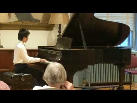 music Worcester 2017 Young Artist Competition winner Justin Wang performs Beethoven Piano Sonata
