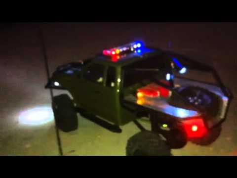 Led light bar rc 110 axial scale crawler youtube aloadofball Image collections