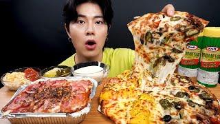 SUB) 서오릉 갈비, 고구마 무스 피자, 베이컨 치즈 스파게티 먹방_Ribs, Sweet Potato Mousse Pizza, Bacon Cheese Spaghetti ASMR