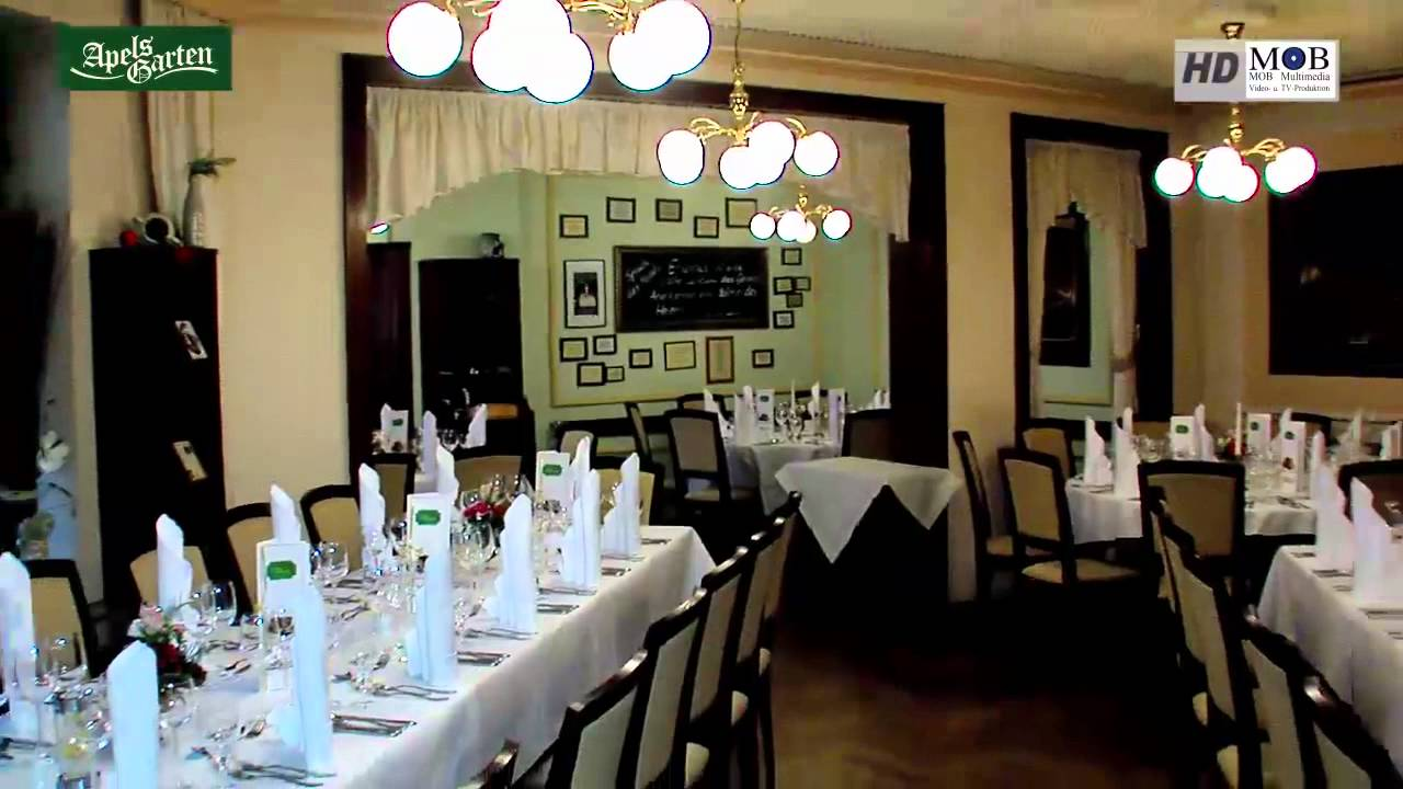 apels garten leipziger traditionsrestaurant mit s chsischer k che youtube. Black Bedroom Furniture Sets. Home Design Ideas
