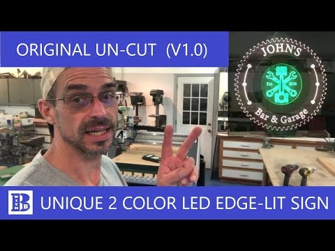 2 Color edge lit  acrylic sign (ORIGINAL UN-CUT)
