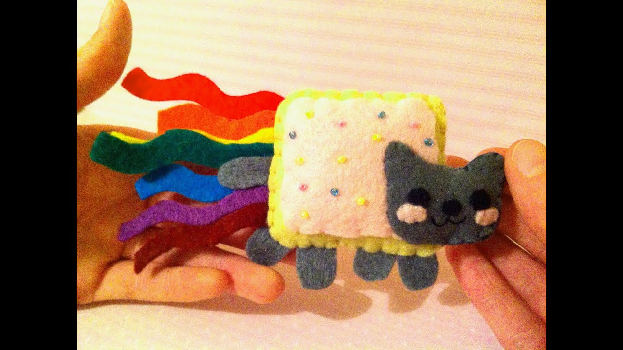 felt plushie templates - how to make a kawaii nyan cat plushie youtube