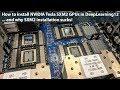 NVIDIA Tesla SXM2 GPU Installation in DeepLearning12 - YouTube