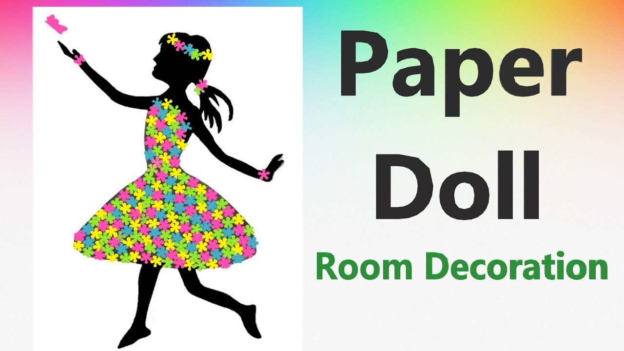 Paper Butterfly girl with flower dress for Room decoration