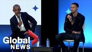 Barack Obama, Steph Curry and John Legend kick off Obama Foundation's MBK Rising!