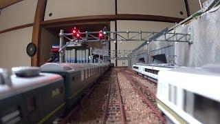 【Nゲージレイアウト】車載カメラ前面展望 8列車同時走行 thumbnail