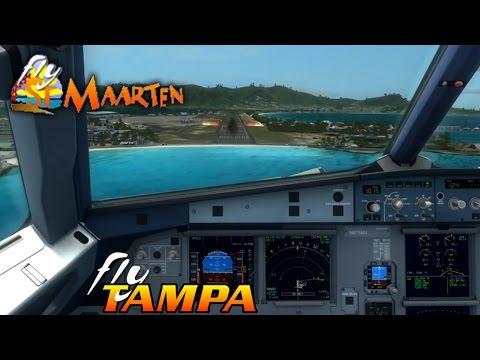 #VATSIM | Aerosoft Airbus A320 | Princess Juliana (TNCM). Saint Maarten Arrival RWY10 | American