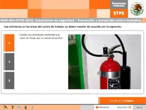 Nom 002 stps 2010  prevención y protección contra incendios