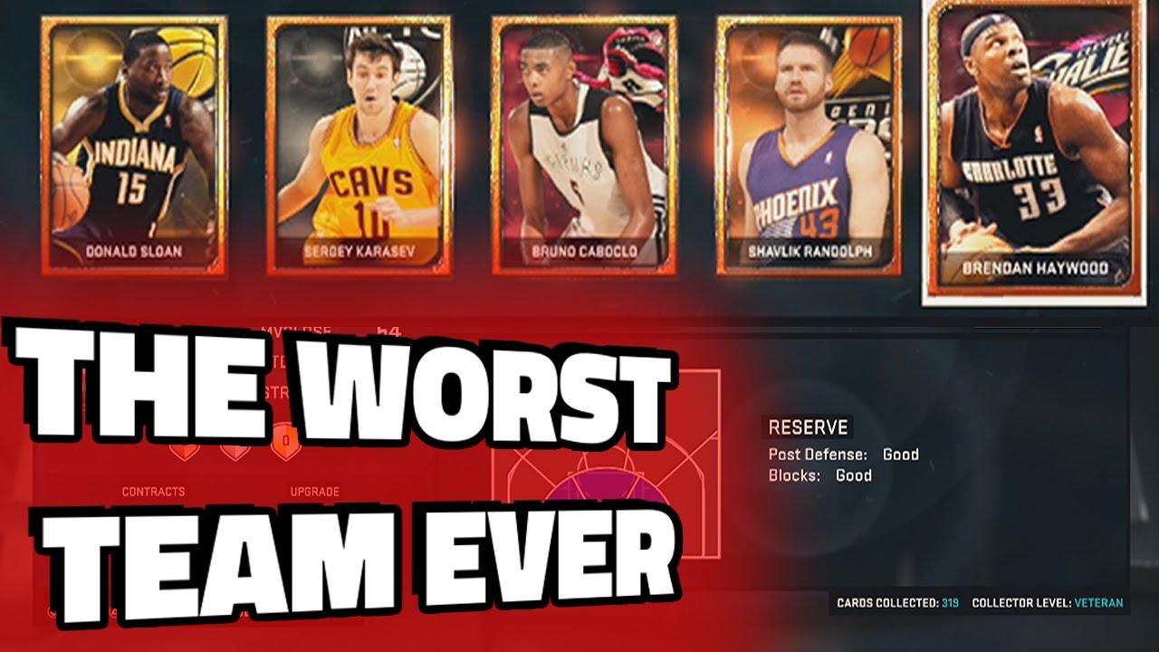 NBA 2K15 THE WORST TEAM!!! - YouTube