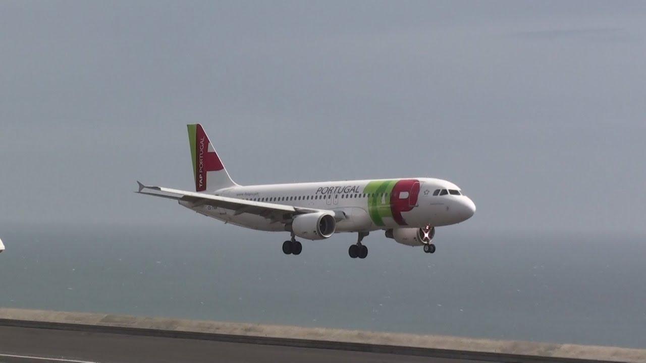 Avioes Em Perigo Aterragens No Aeroporto Da Madeira Com Ventos