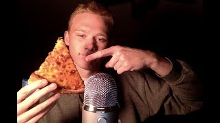 ASMR Eating Sounds and Ramble *Pizza, Wings, Mountain Dew*
