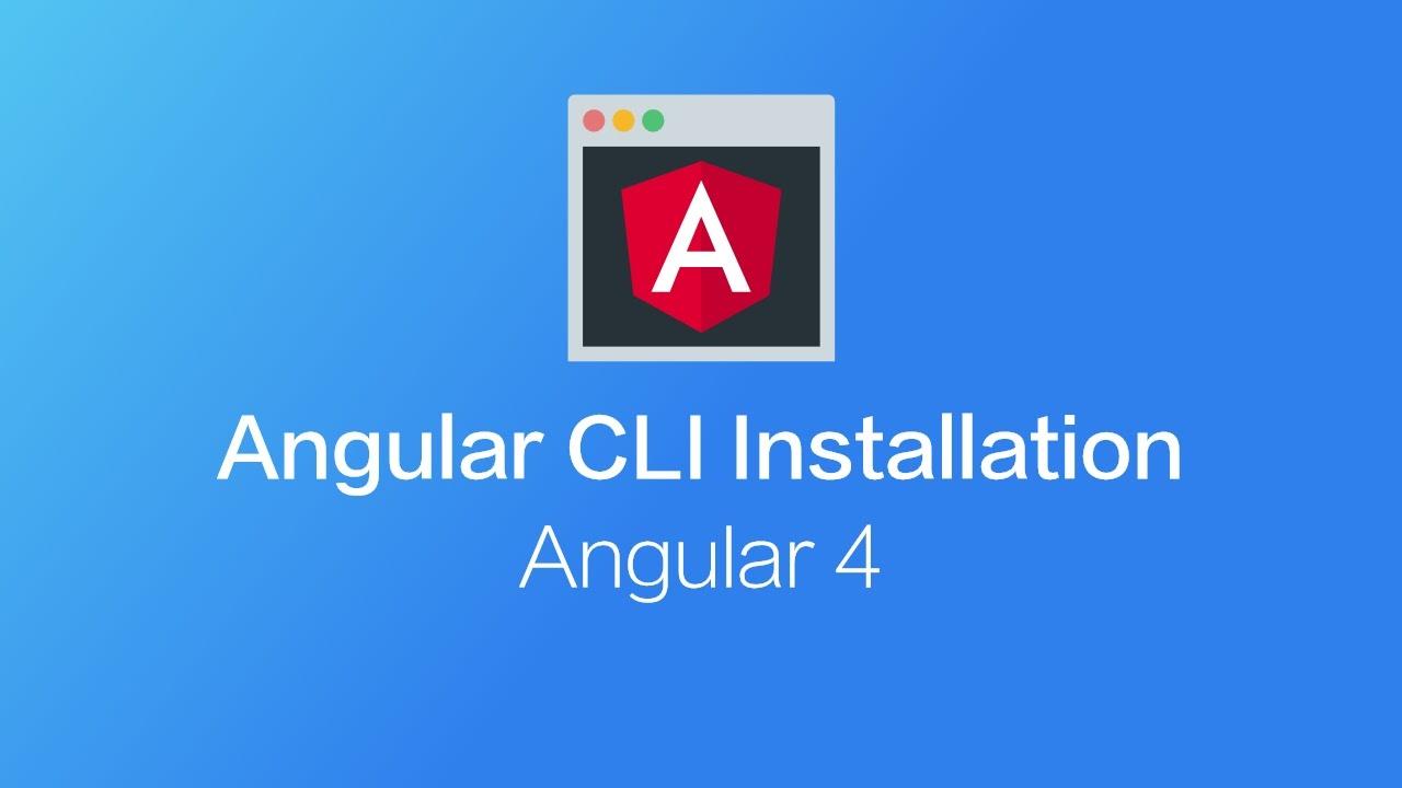 install angular cli v4