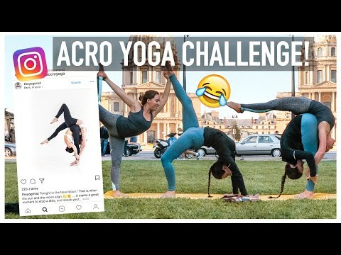 TRYING FAMOUS INSTAGRAM ACROYOGA POSES WITH MY SIS