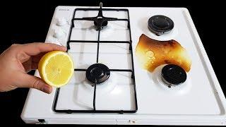 Bu Sırrı Sakın Kimseyle Paylaşmayın Sadece Yarım Limon ile Ocak Temizleme Yöntemi