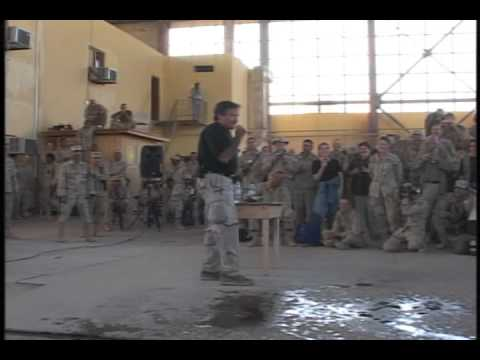 Robin Williams First USO Tour Afghanistan 2002 Part 2 Bagram AIr Base