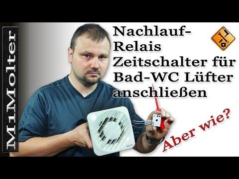 Top Nachlauf Relais für Bad WC Lüfter anschließen / einbauen von RV21