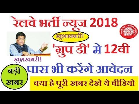 railway recruitment 2018 group d 12th pass